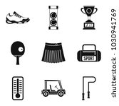 sport workout icons set. simple ... | Shutterstock .eps vector #1030941769