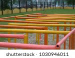 the iron labyrinth on the... | Shutterstock . vector #1030946011