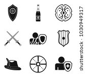 shield icons set. simple set of ...   Shutterstock .eps vector #1030949317