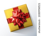 small square gift box with big...   Shutterstock .eps vector #1030958521