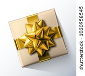 small paper gift box with big...   Shutterstock .eps vector #1030958545