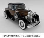 beautiful dark antique car on a ... | Shutterstock . vector #1030962067
