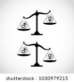 silhouette of balance with male ... | Shutterstock .eps vector #1030979215