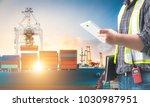 engineer working in the trade...   Shutterstock . vector #1030987951