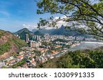 aerial view on botafogo bay of... | Shutterstock . vector #1030991335