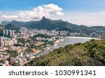 aerial view on botafogo bay of... | Shutterstock . vector #1030991341