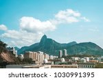 aerial view on botafogo bay of... | Shutterstock . vector #1030991395