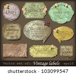 vector illustration of vintage... | Shutterstock .eps vector #103099547