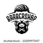 barbershop label vintage...   Shutterstock .eps vector #1030997047