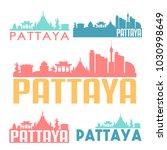 pattaya thailand flat icon... | Shutterstock .eps vector #1030998649