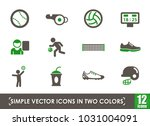 sport simple vector icons in... | Shutterstock .eps vector #1031004091