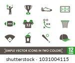 sport simple vector icons in... | Shutterstock .eps vector #1031004115