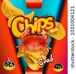 potato chips. crab flavor....   Shutterstock .eps vector #1031004121
