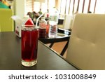 fresh roselle juice  healthy... | Shutterstock . vector #1031008849
