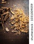 close up of ayurvedic herb... | Shutterstock . vector #1031009059