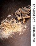 close up of ayurvedic herb... | Shutterstock . vector #1031009101