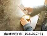 female freelancer concept.... | Shutterstock . vector #1031012491