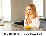 female freelancer concept.... | Shutterstock . vector #1031012515