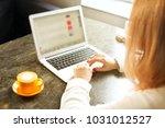 female freelancer concept.... | Shutterstock . vector #1031012527