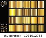 vector set of gold gradients ... | Shutterstock .eps vector #1031012755