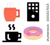icons coffee shop. vector donut ... | Shutterstock .eps vector #1031017015