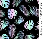 seamless holofraphic vector... | Shutterstock .eps vector #1031019175