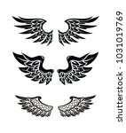 wings collection set | Shutterstock .eps vector #1031019769