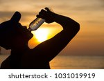 silhouette asian women who are... | Shutterstock . vector #1031019919