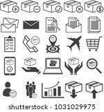 warehouse stock  stockpile line ... | Shutterstock .eps vector #1031029975
