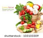 cooking salad  fresh vegetables ... | Shutterstock . vector #103103309