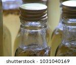 homemade elderflower syrup in... | Shutterstock . vector #1031040169