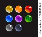 bubble shooter set  mobile game ... | Shutterstock .eps vector #1031042461
