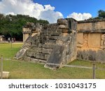 chichen itza mexico january 28... | Shutterstock . vector #1031043175