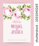 flower garland for invitation... | Shutterstock .eps vector #1031043265