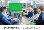 diverse group of successful... | Shutterstock . vector #1031044174