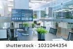 modern empty meeting room with...   Shutterstock . vector #1031044354