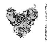 lace flowers decoration element | Shutterstock .eps vector #1031047969