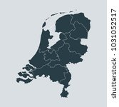 netherlands map on gray... | Shutterstock .eps vector #1031052517