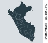 peru map on gray background...   Shutterstock .eps vector #1031052547