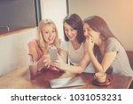 girl friend in feeling happy... | Shutterstock . vector #1031053231