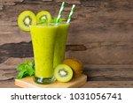 kiwi smoothies juice beverage... | Shutterstock . vector #1031056741