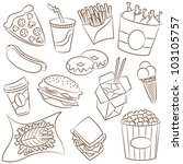fast food icons | Shutterstock .eps vector #103105757
