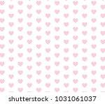 pink heart vector pattern.... | Shutterstock .eps vector #1031061037