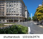 obelisk and lavalle square in... | Shutterstock . vector #1031063974