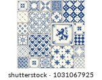 tile illustration. decor tiled... | Shutterstock . vector #1031067925