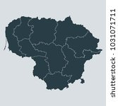 lithuania map on gray...