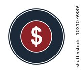 dollar icon sign in circle | Shutterstock .eps vector #1031079889