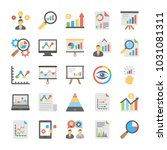 business analytics flat icons | Shutterstock .eps vector #1031081311