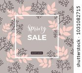 a spring sale board  promotion  ... | Shutterstock .eps vector #1031082715