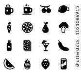solid vector icon set   tea... | Shutterstock .eps vector #1031086915